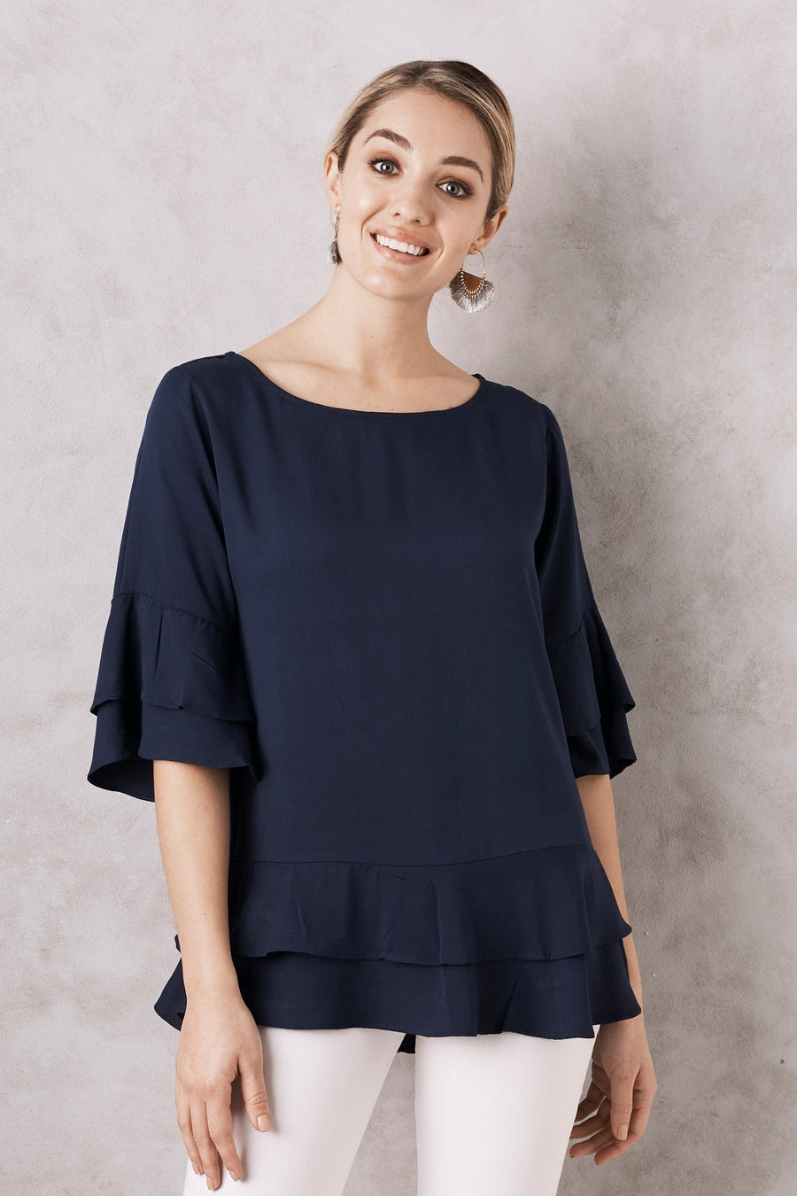 Mia Top Navy