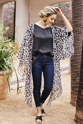 Animal Print Cape Almond