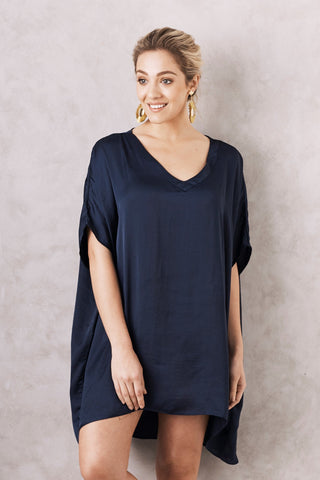 Nice Tunic in Navy with V Neck
