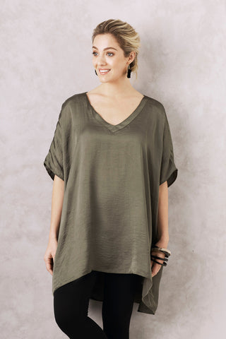 Nice Tunic in Olive with V Neck