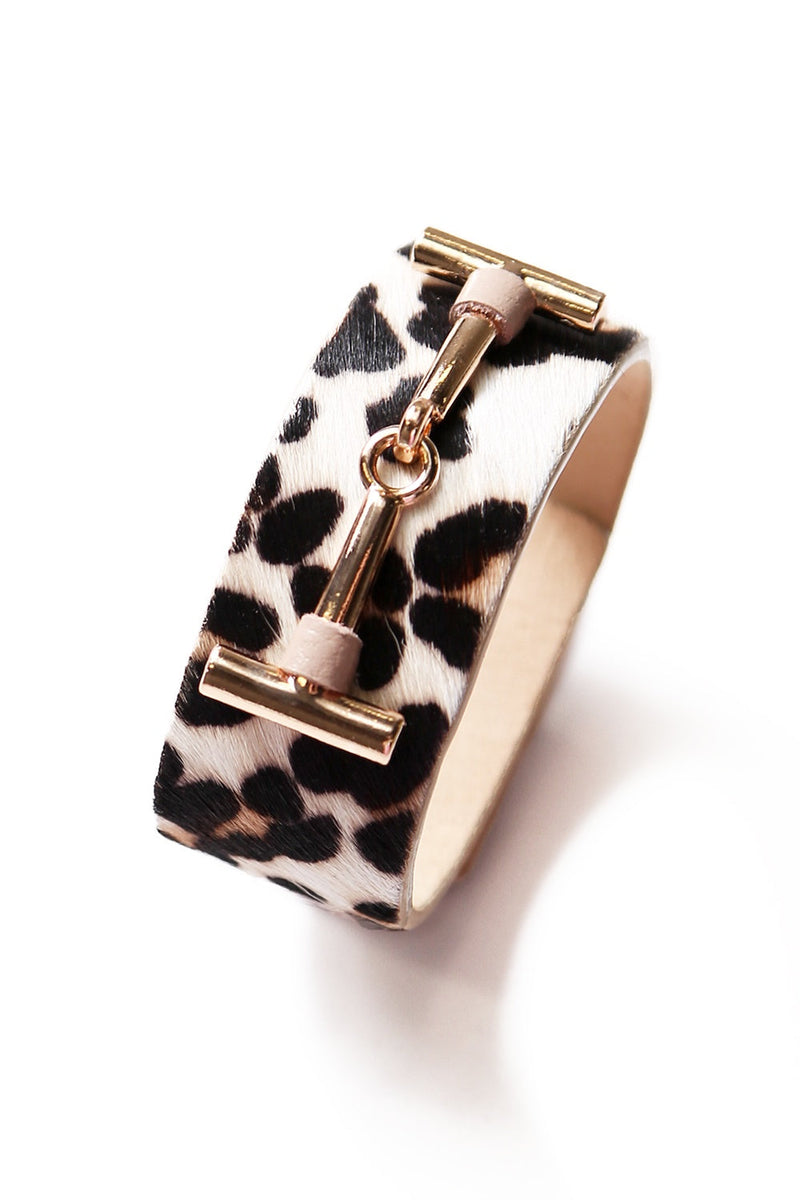Statement Cuff Mini Leopard