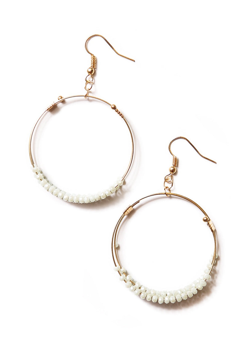 Aurora Round Beads Earrings - Mint