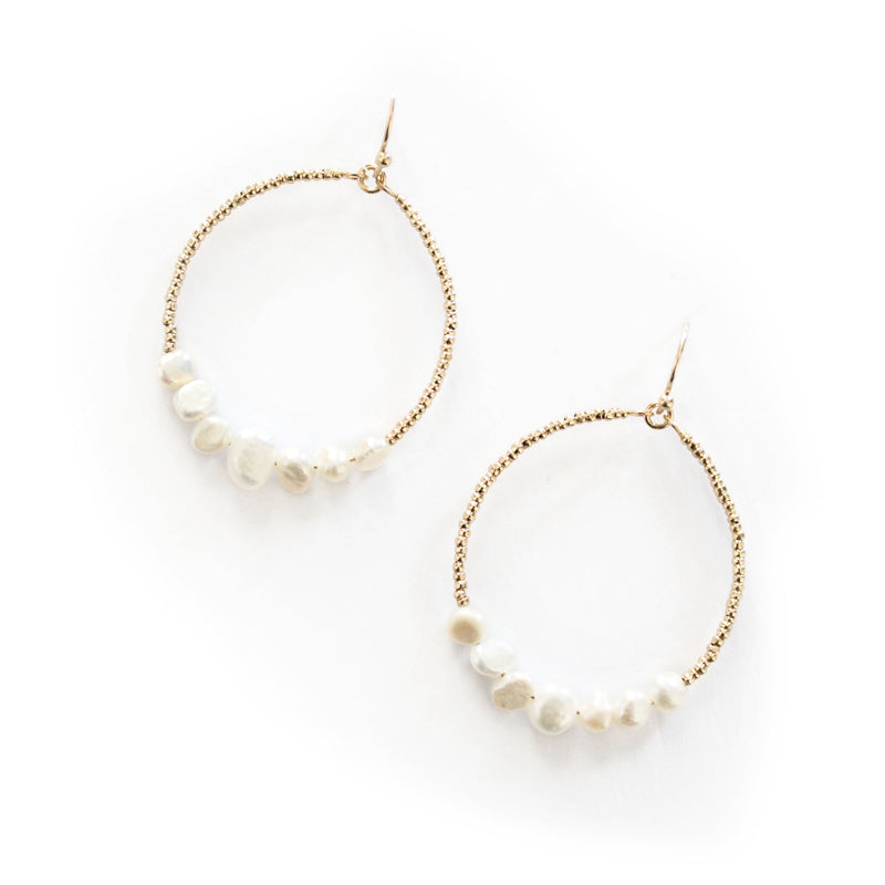 Jess Hoop Earrings Gold
