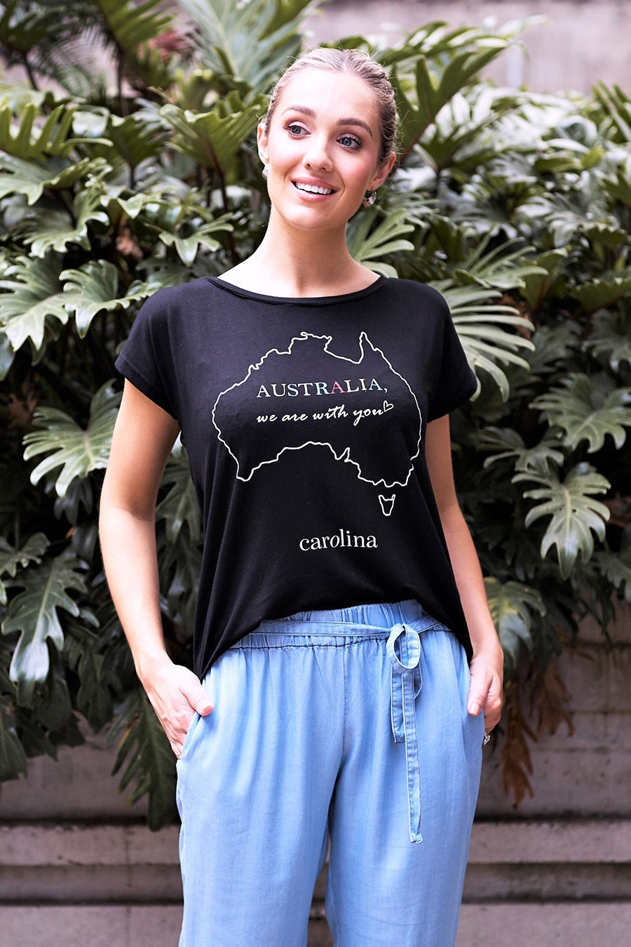 Australia, We Are With You T-Shirt Black