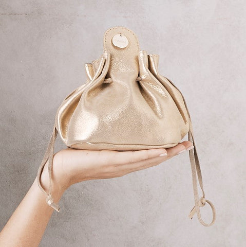 Jewellery Bag Gold Metallic