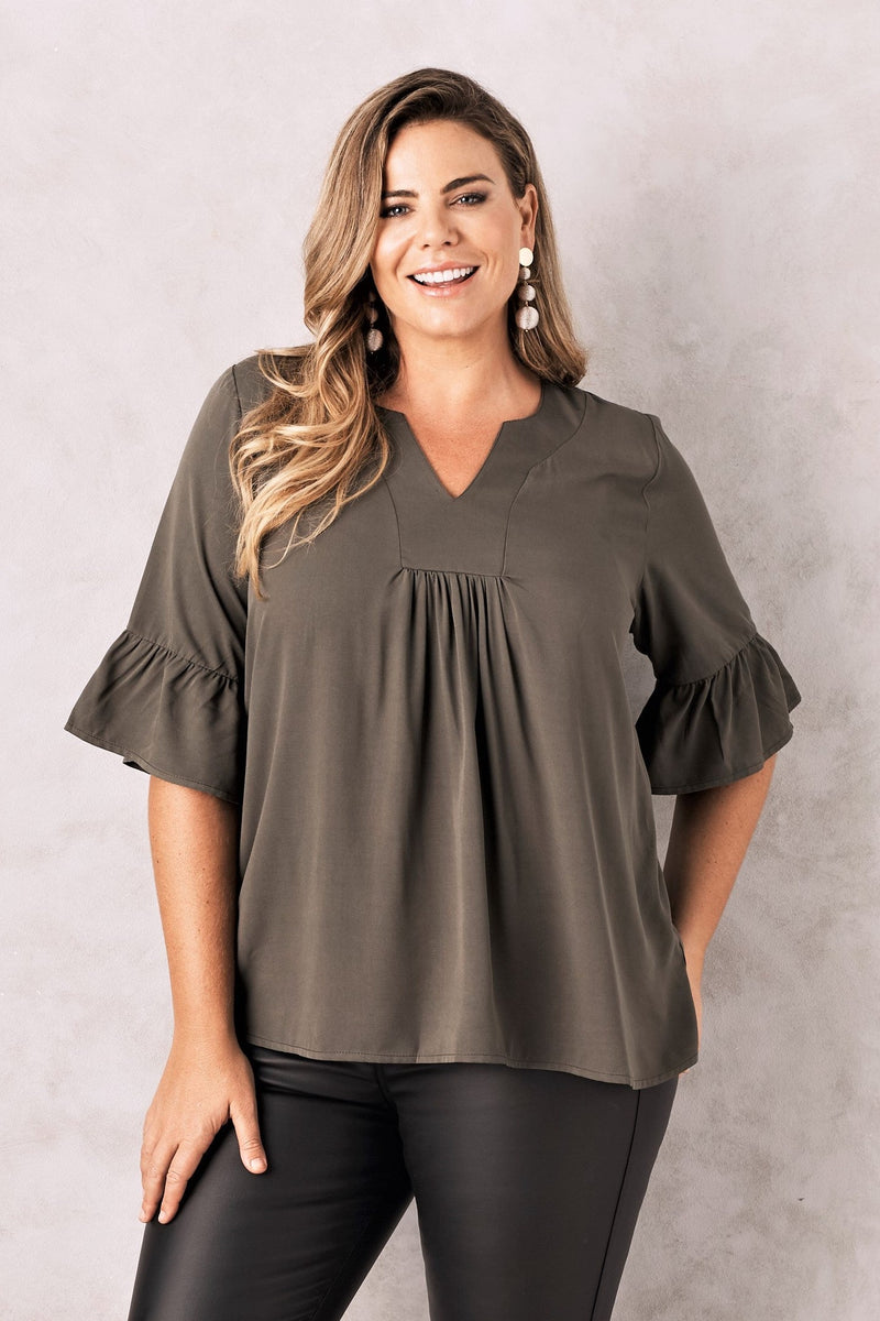 Portofino Top Olive Green