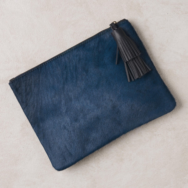 Masai Mara Clutch Royal Blue Cowhide