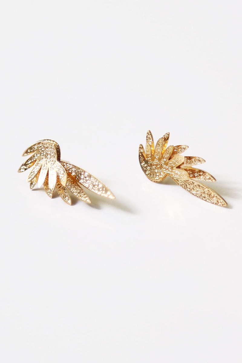 Angel Wings Earrings - Gold