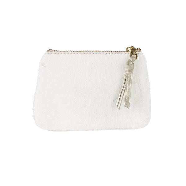 Coin Purse All White Cowhide