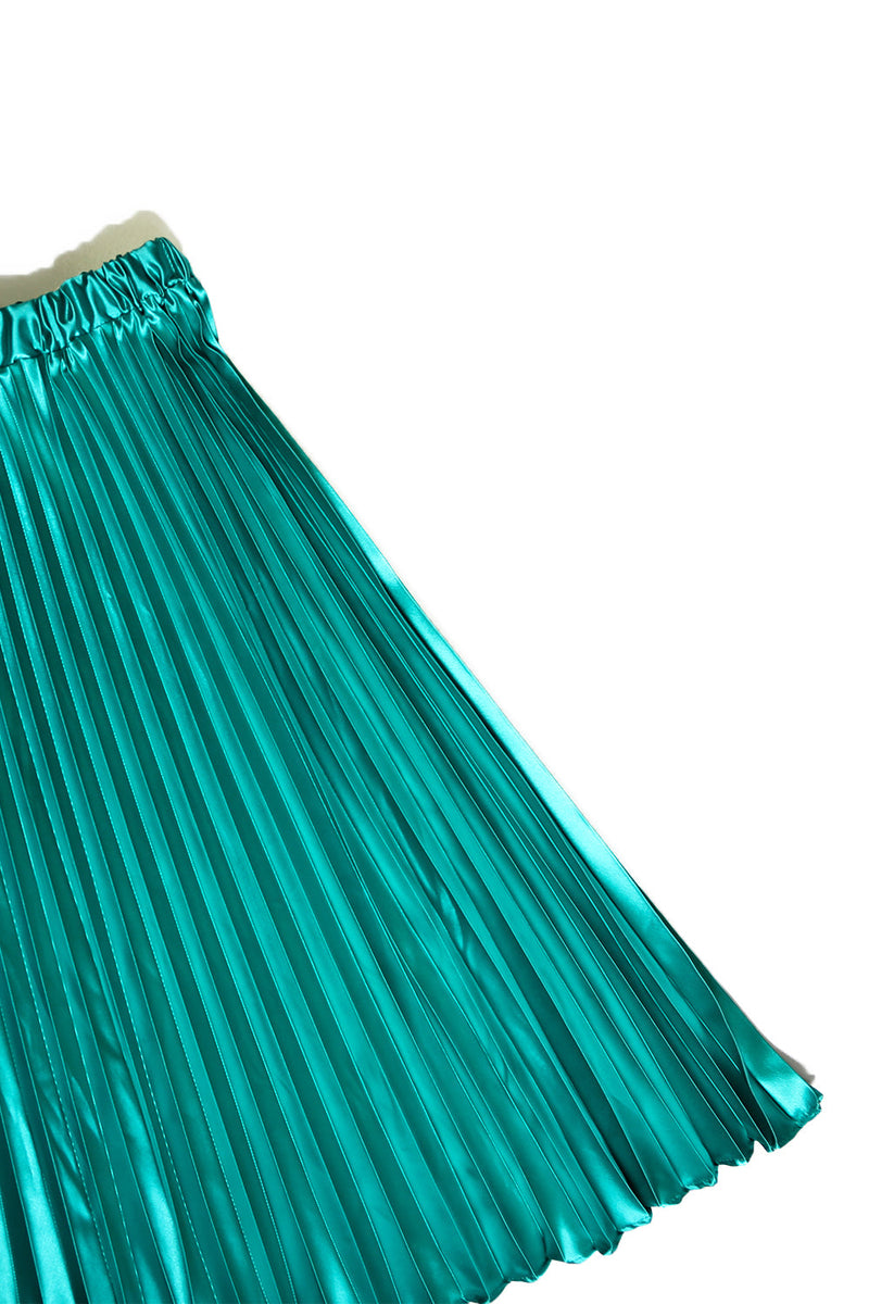 Alexa Pleated Skirt Emerald