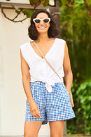 Amalfi Gingham Shorts - Navy