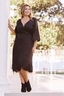 Eleanor Wrap Dress Black