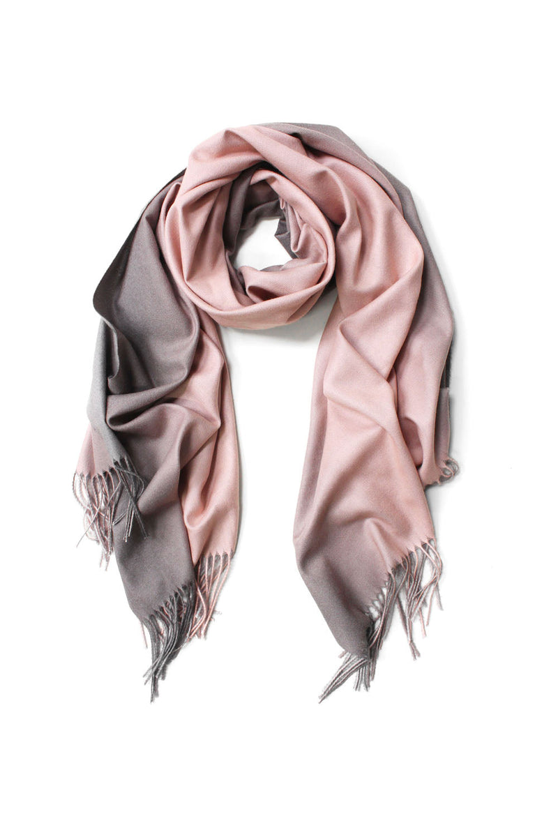Two Tone Gradient Scarf Blush
