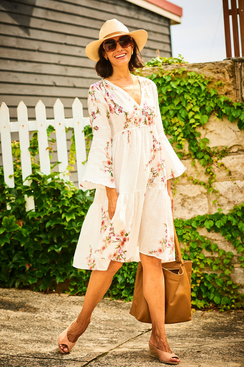 Blossom Pure Linen Dress