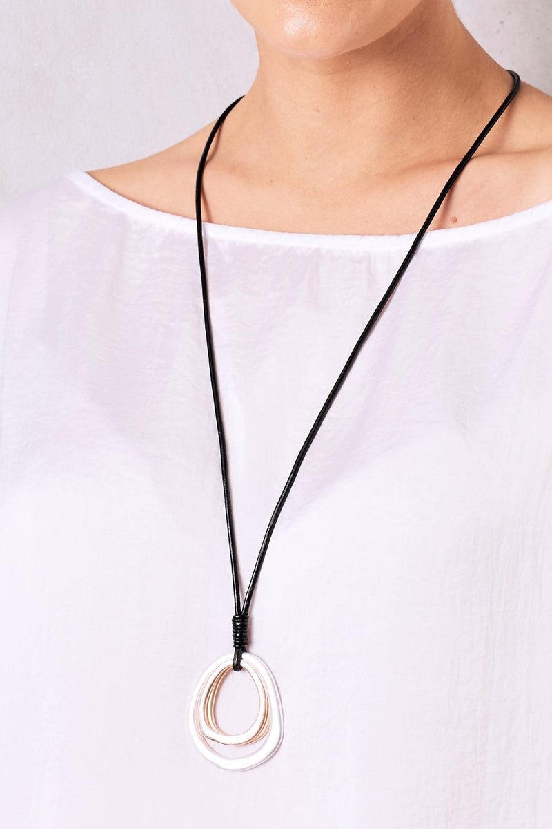 Skyler Necklace Silver and Rose Gold