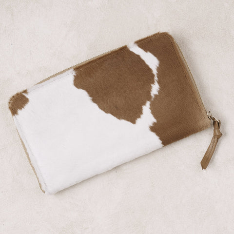 Large Travel Wallet in Tan Cowhide