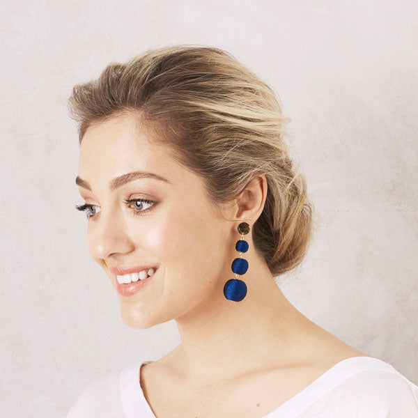 Kiara Earrings Navy