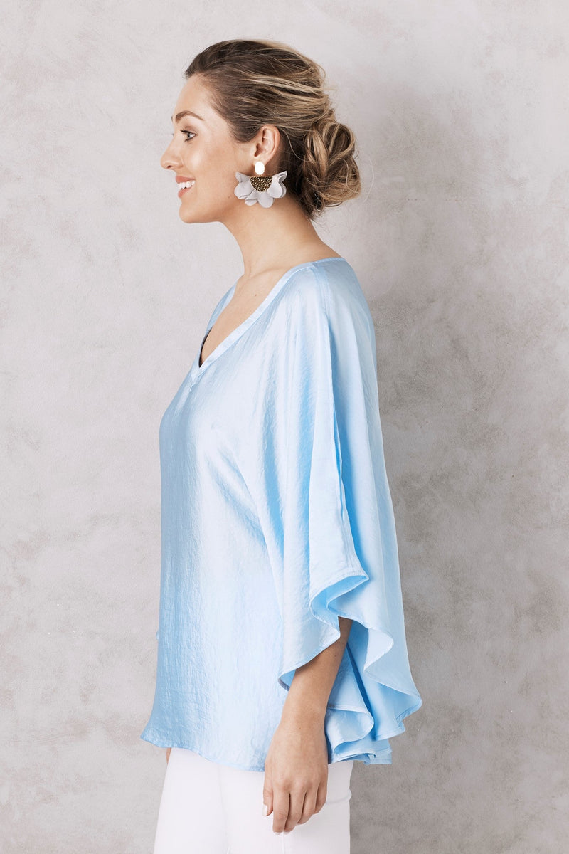 Angel Short Sleeve Top Blue