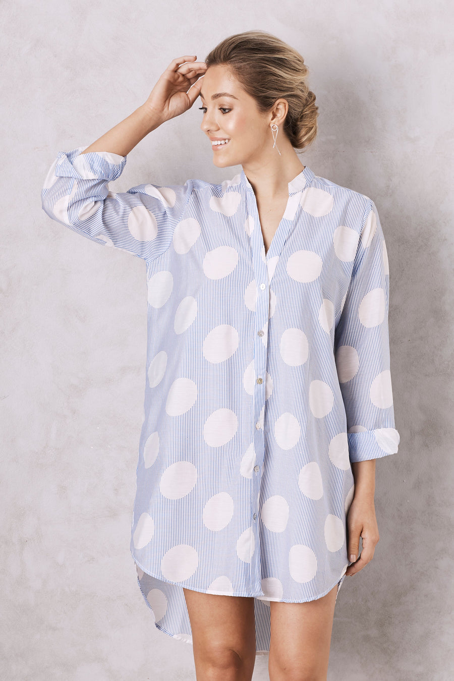 Pamela Polka Dot Dress Shirt