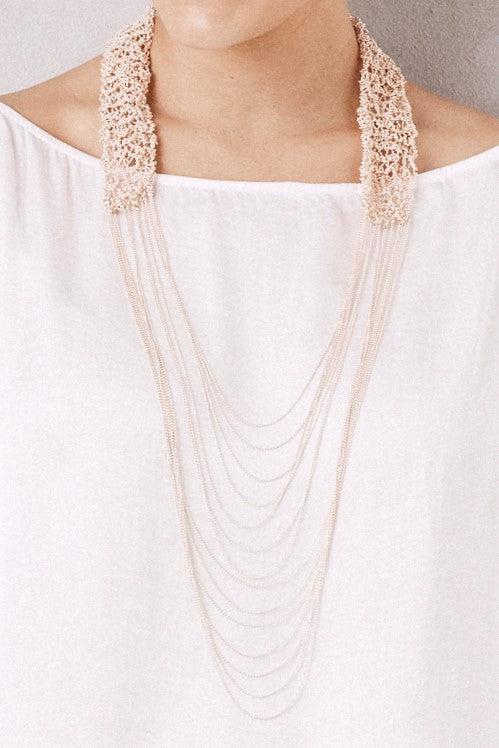Cascade Necklace Rose Gold