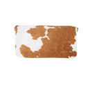 Carolina Cowhide Clutch Tan and White