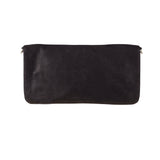 Carolina Cowhide Clutch Black Metallic
