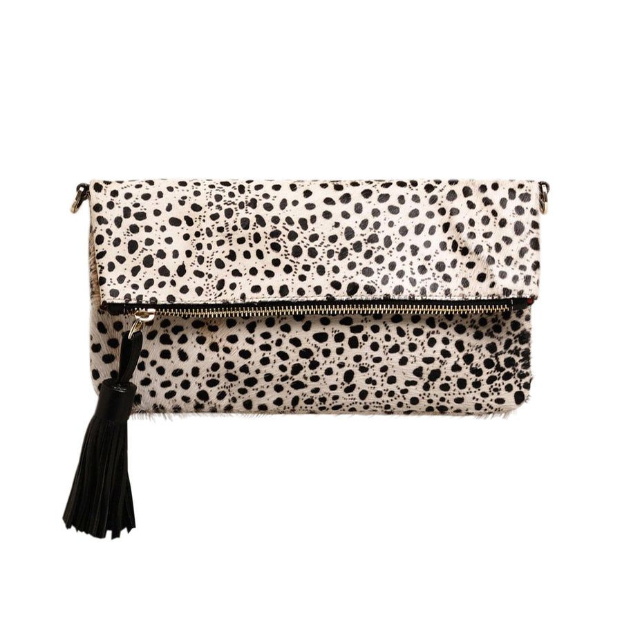 Carolina Cowhide Clutch Cheetah