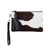 Mini Masai Mara Clutch Black and White Cowhide