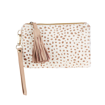 Mini Masai Mara Clutch Almond Cheetah