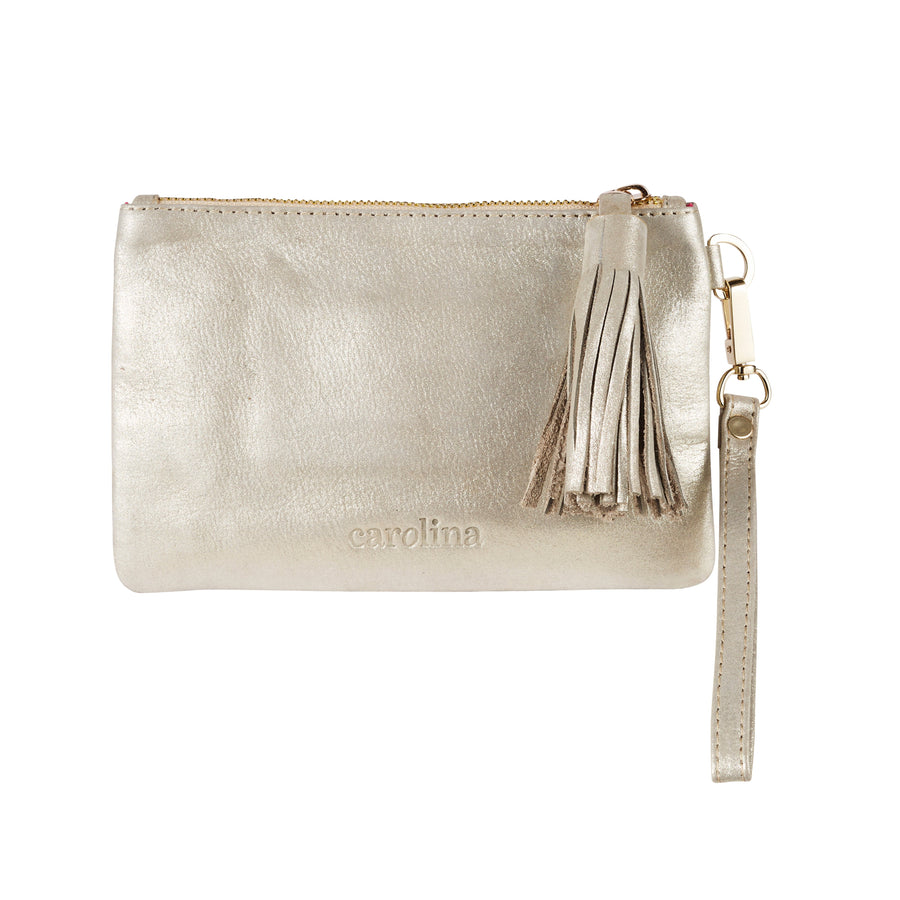 Mini Masai Mara Clutch Light Gold Metallic