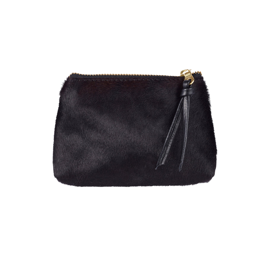 Coin Purse All Black Cowhide