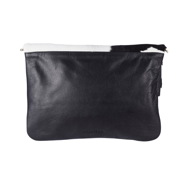 Oversized Clutch Black and White Cowhides