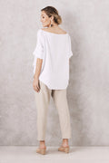 Cotton Linen Pants Almond