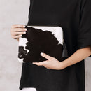New York Clutch Black And White Cowhide