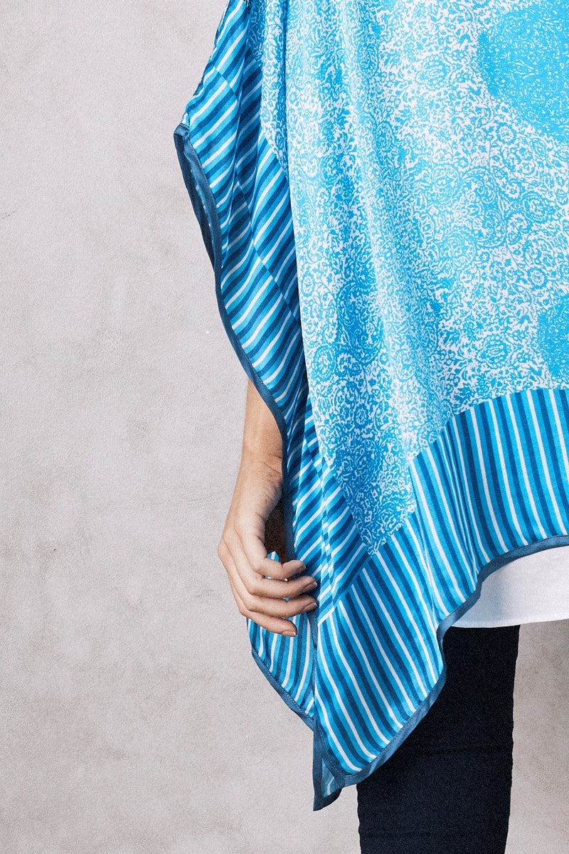 Mandala Cape Blue