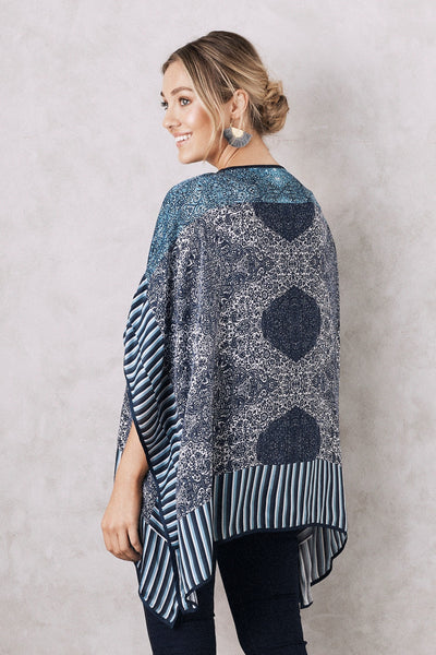 Mandala Cape Navy