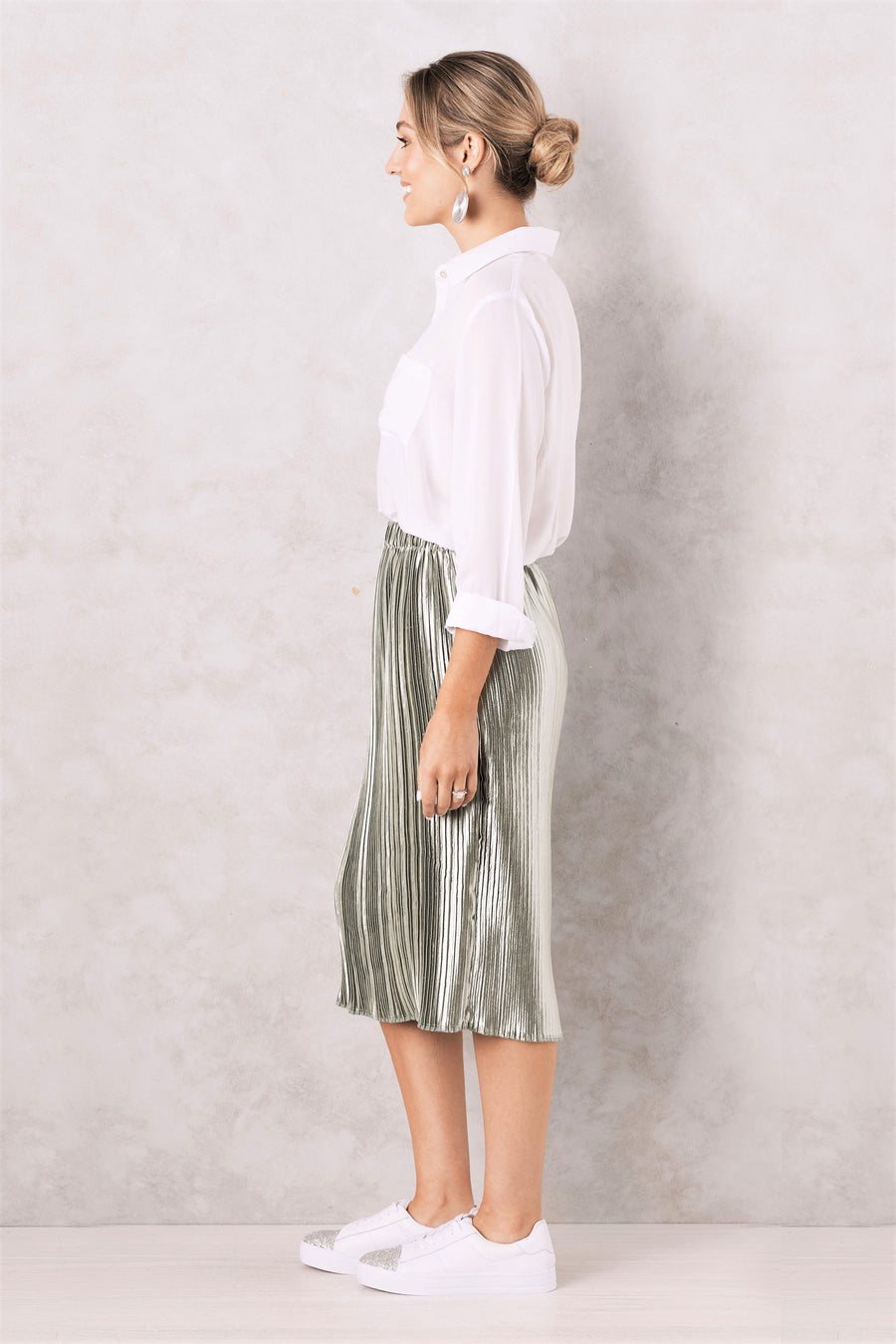 Pleated Skirt Honeydew