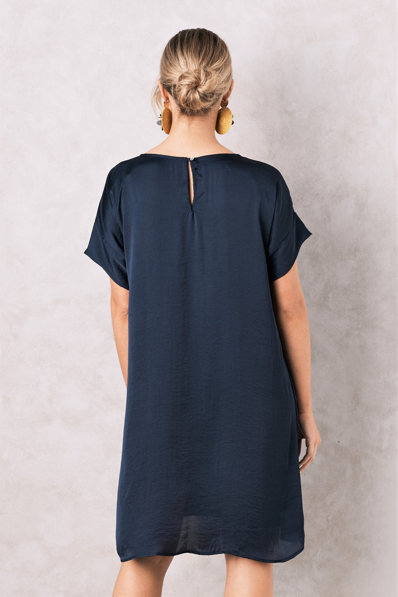 Evie Dress Navy