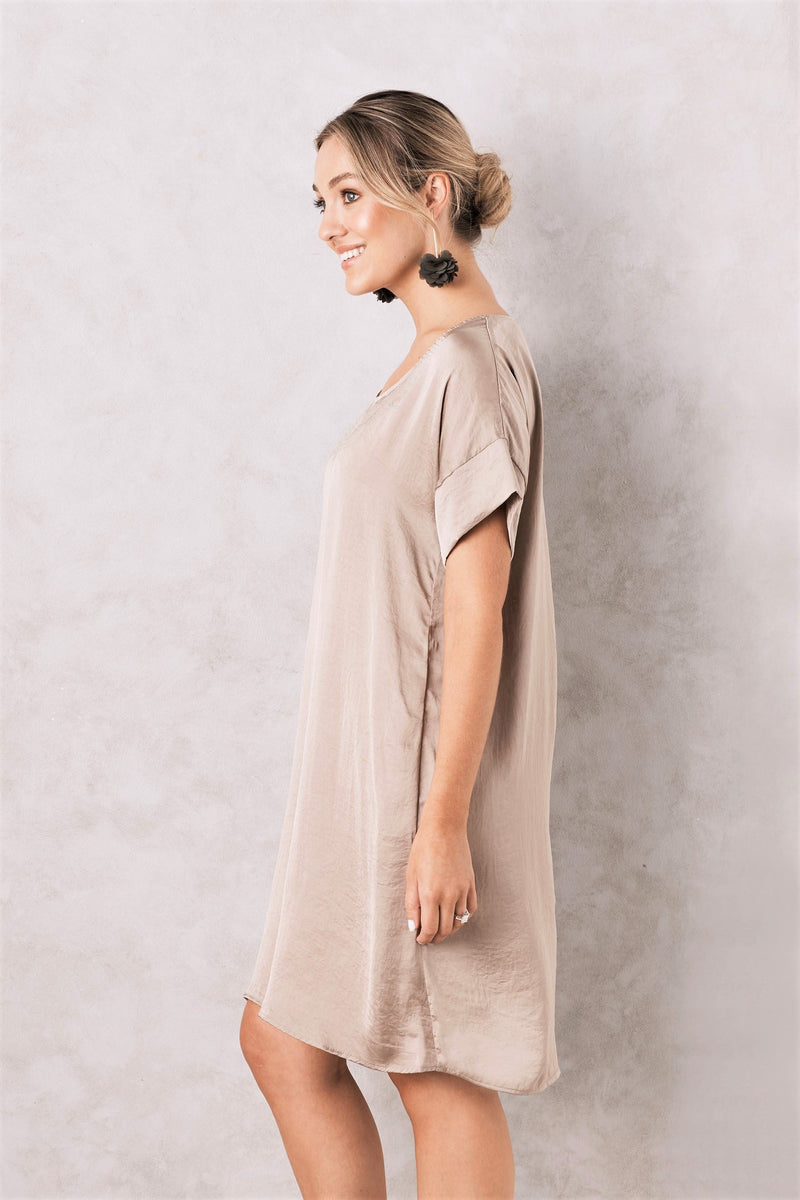 Evie Dress Almond