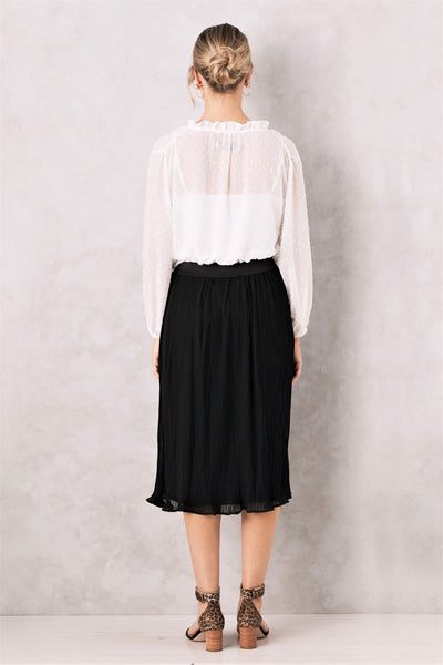 Bella Pleated Skirt Black