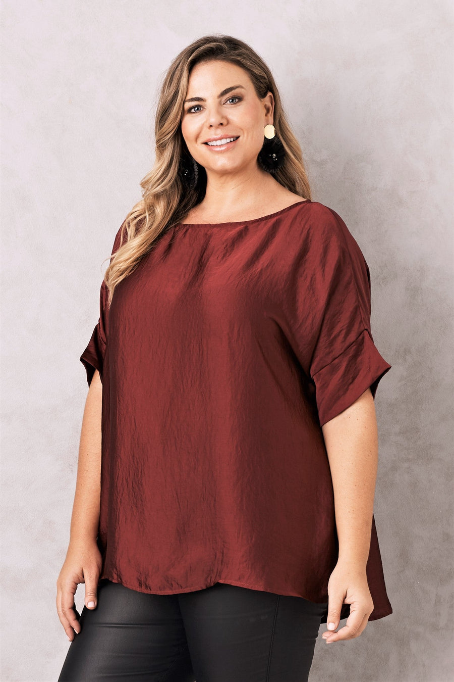 Bianca Top Burgundy