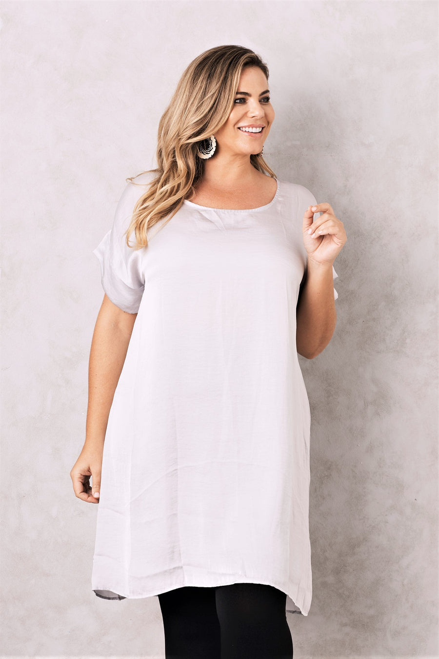 Evie Dress Light Grey