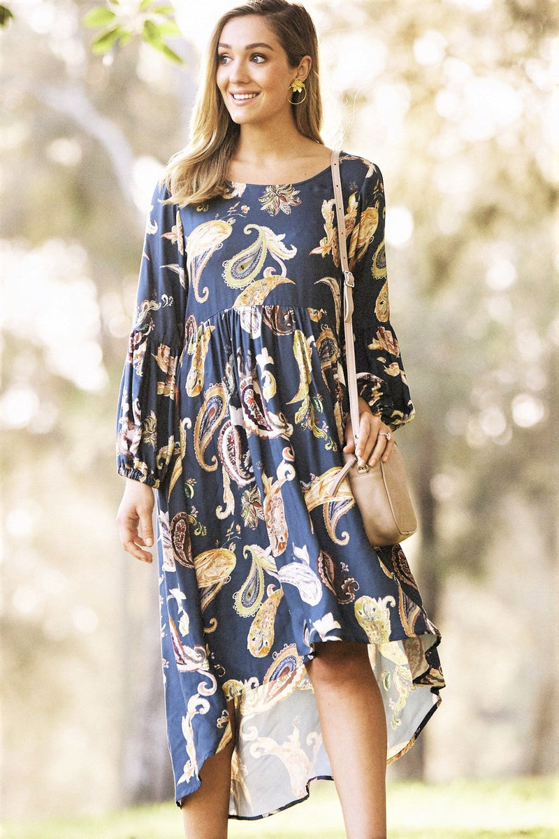 Paisley Dress Teal