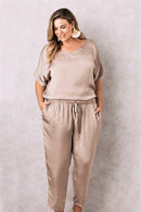 Faux Jumpsuit Almond