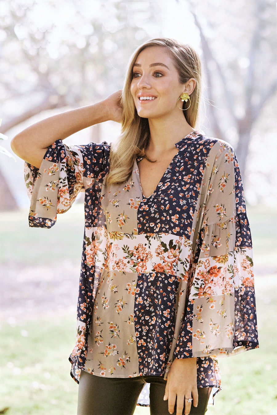 Lucy Floral Patchwork Top