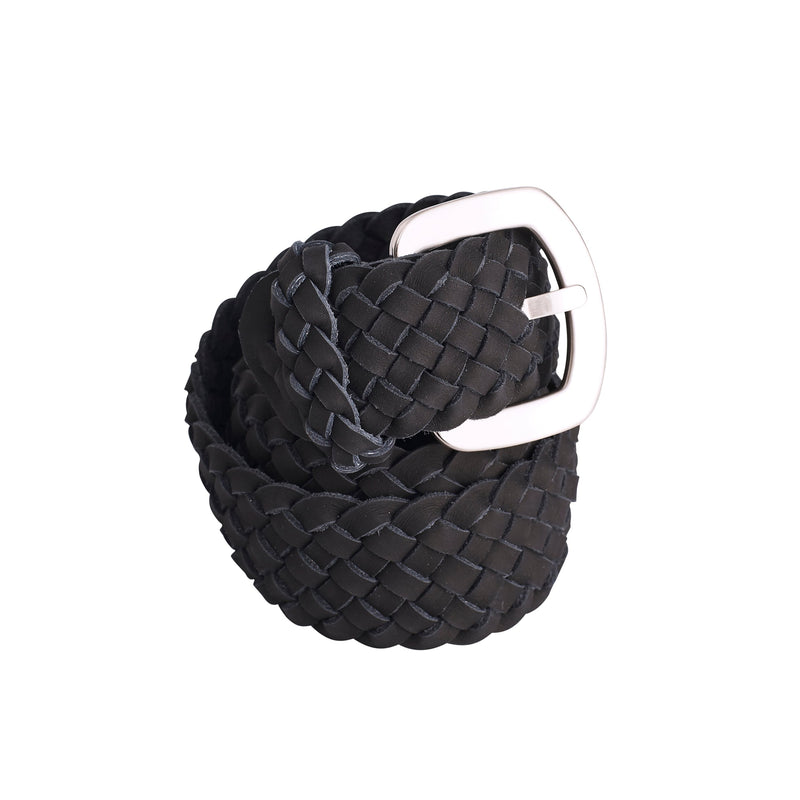 Plaited Jeans Belt Black SL