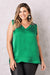 Chloe Sleeveless Top Emerald