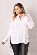 Ella Collared Shirt White