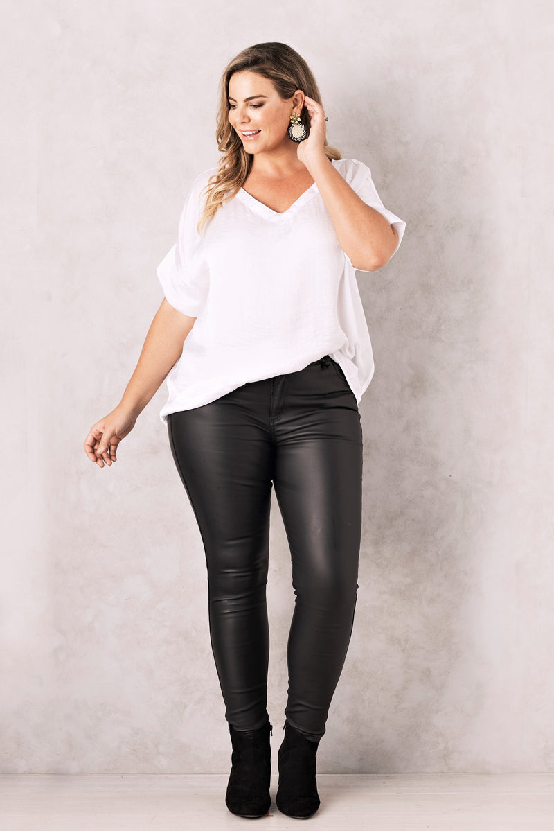 Amber Coated Jeans Black