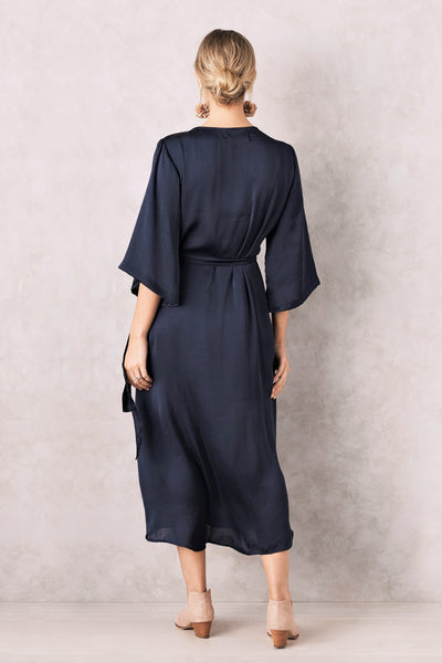 Eleanor Wrap Dress Navy